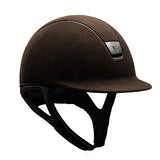 Samshield Premium Top Alcantara Brown Mat Riding Hat - Equeto