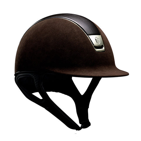 Samshield Premium Top Leather Brown Chrome Riding Hat