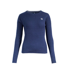 Horze Ladies Crescendo Reanna Pullover Sweater - Navy