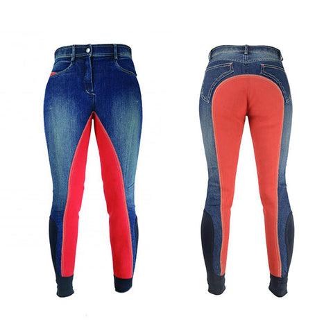 Hy Performance Rugby Denim Ladies Breeches