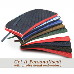 Personalised Saddle Clothes - Choice of Colours & Embroidery
