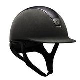 Samshield Premium Top Leather Grey Chrome Riding Hat - Equeto