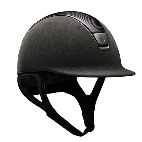 Samshield Premium Top Leather Grey Chrome Riding Hat