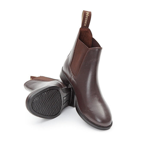 Shires Unisex Wessex Leather Jodhpur Boots - Equeto