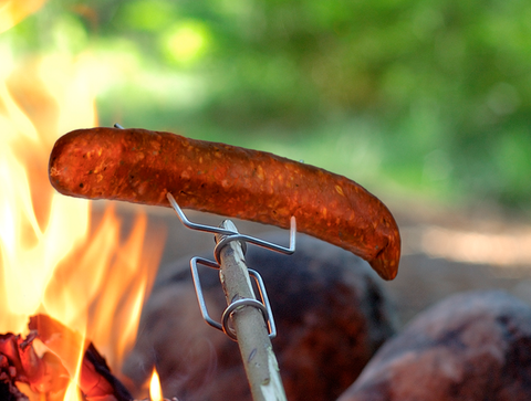 LIGHT MY FIRE Grandpas Fire Fork with Sausage lifestyle image