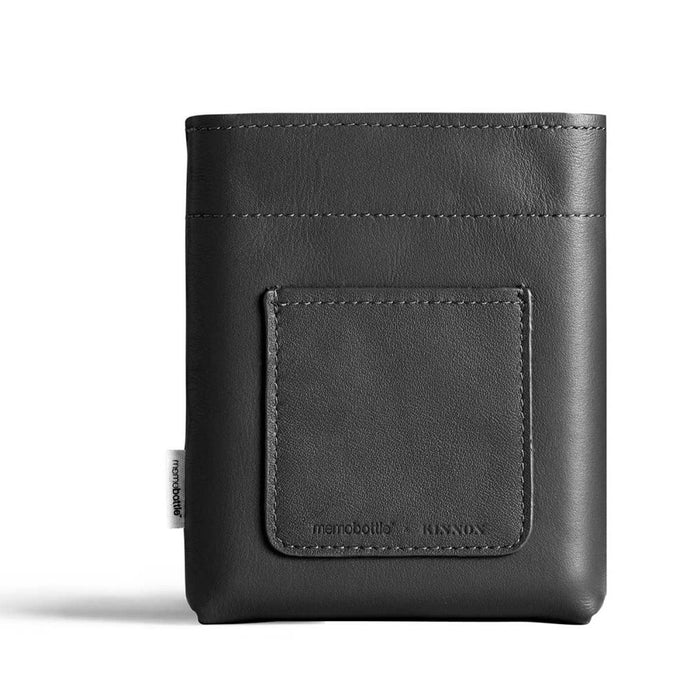 MEMOBOTTLE | Leather Sleeve A6 - Black
