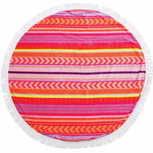 Load image into Gallery viewer, SUNNYLIFE | LUXE Round Towel GET AROUND THIS SUMMER - Balandra