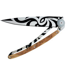 Load image into Gallery viewer, DEEJO KNIFE | Juniper Wood 37g - Tribal Half Closed