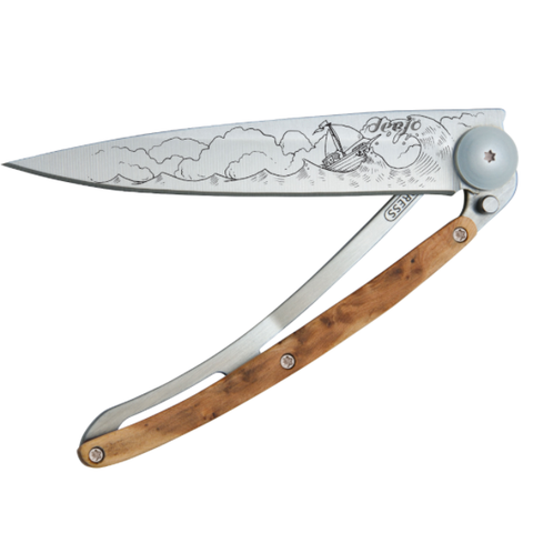 DEEJO KNIFE | Juniper Wood 37g - High Seas Half Closed