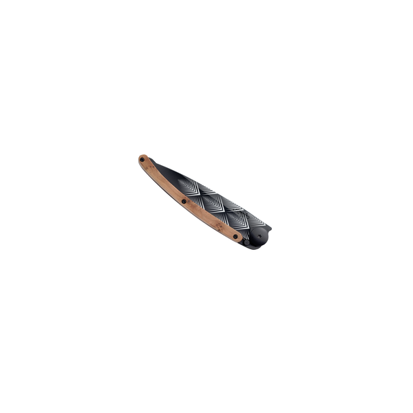 DEEJO KNIFE | Juniper Wood 37g BLACK - Deco Closed