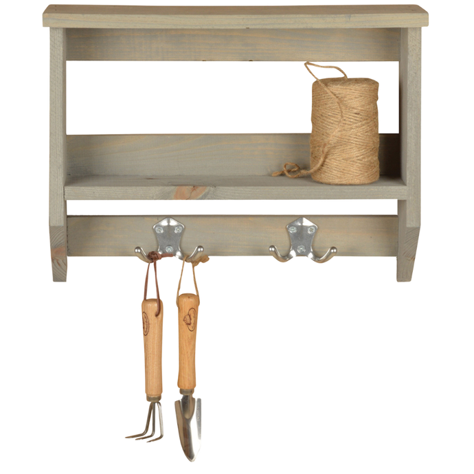 ESSCHERT DESIGN Shelf with hooks - Medium