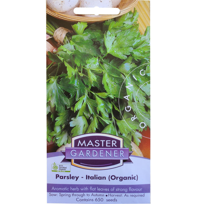 MASTER GARDENER Seeds - Flat Leaf (Italian) Parsley Organic
