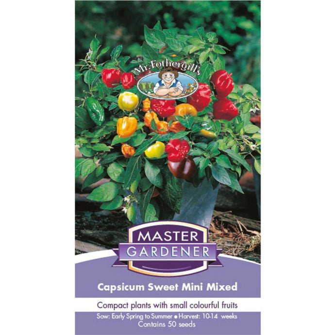 MASTER GARDENER Seeds - Capsicum Sweet Mini Mixed