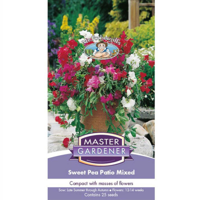 MASTER GARDENER Seeds - Sweet Pea Patio Mix Dwarf