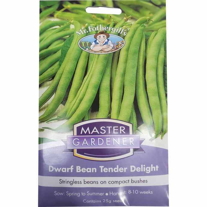 MASTER GARDENER Seeds -  Dwarf Bean Tender Delight