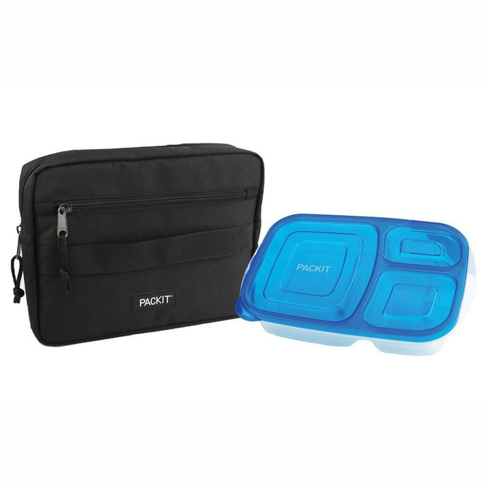 PACKIT® | Freezable Bento - BLACK **Discontinued - Limited Stock**
