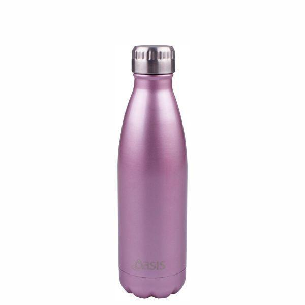 OASIS Drink Bottle 500ml Stainless Insulated - Blush