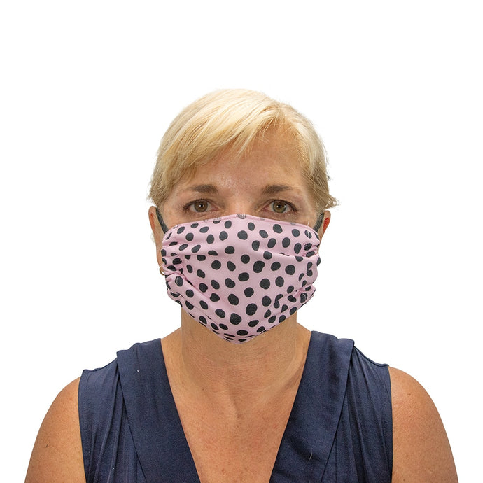 ANNABEL TRENDS | Washable Reusable Face Mask - Spot Pink