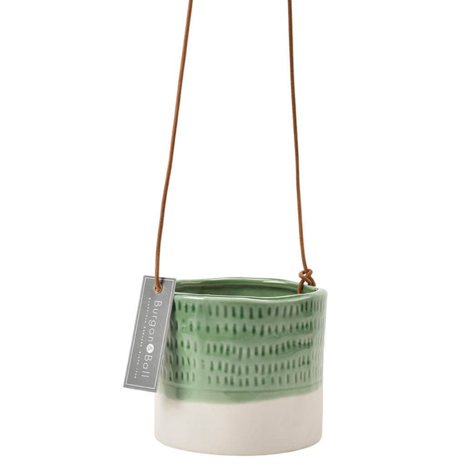 BURGON & BALL | Hanging Plant Pot - 'Pie Crust'