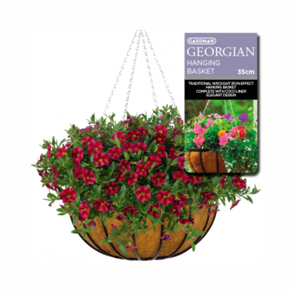 GARDMAN Georgian Hanging Basket 35cm - Steel