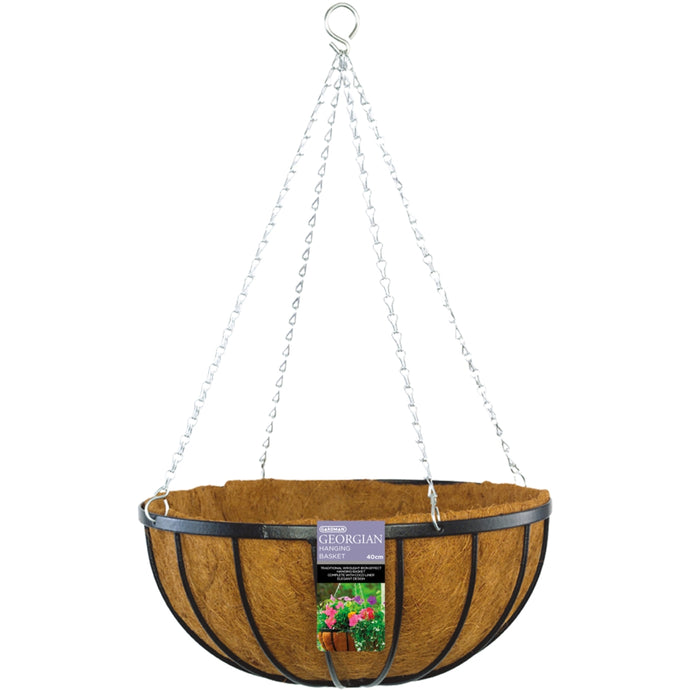 GARDMAN Georgian Hanging Basket 40cm - Steel