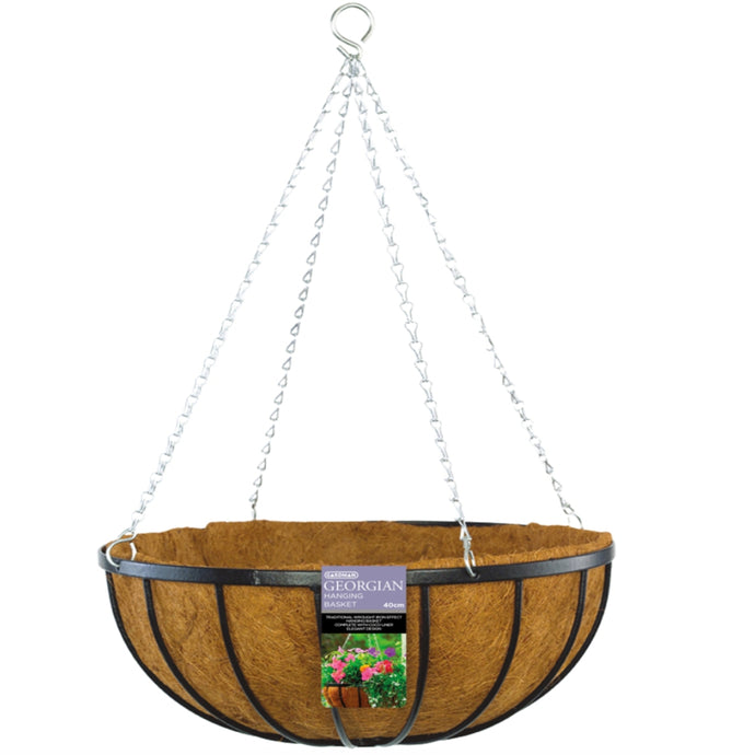 GARDMAN Georgian Hanging Basket 45cm - Steel