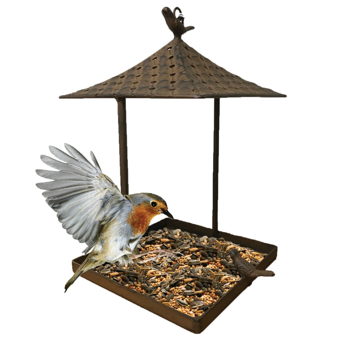 GARDMAN Gazebo Hanging Bird House - Rust Finish