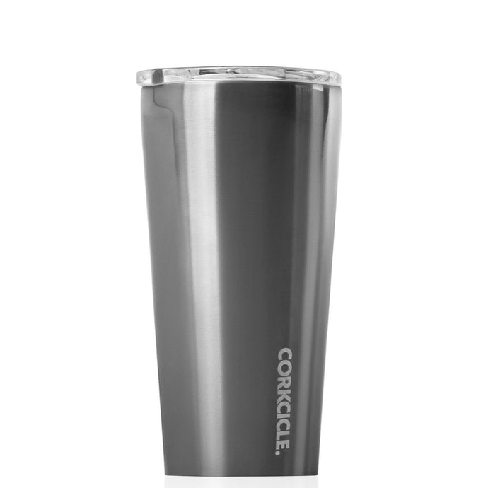 Metallic Tumbler 475ml - Gunmetal Insulated Stainless Steel Cup Corkcicle