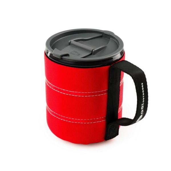 GSI | Infinity Backpacker Mug 500ml - Red Lid Open
