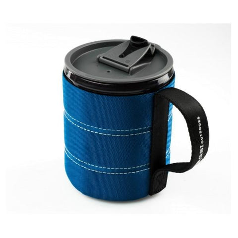 GSI | Infinity Backpacker Mug 500ml - Blue opened lid