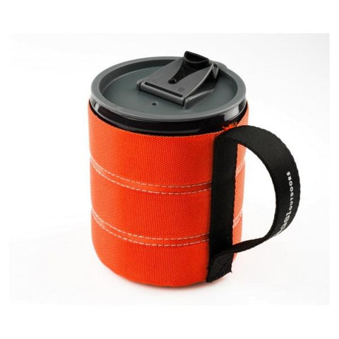 GSI | Infinity Backpacker Mug 500ml - Orange Lid Open