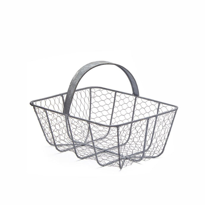 MARTHA'S VINEYARD Wire French Style Harvesting Basket Trug - Small