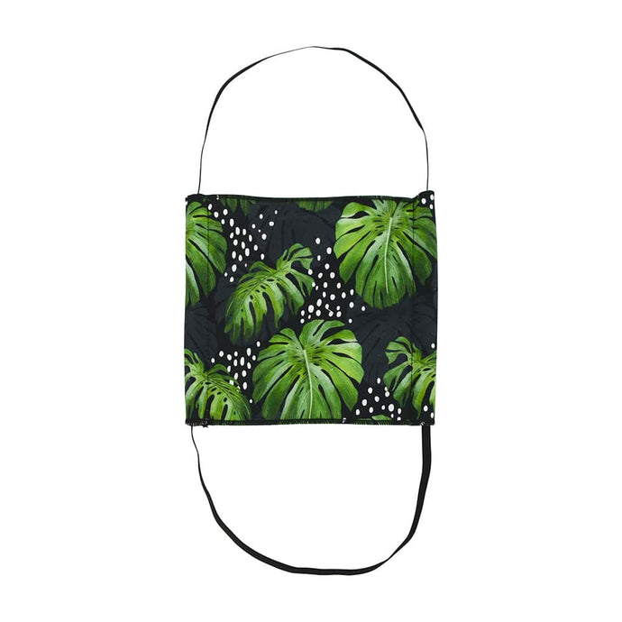 ANNABEL TRENDS | Washable Reusable Face Mask - Monstera Black