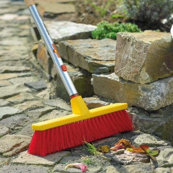 WOLF GARTEN | Multi-change 40cm Street Broom in use outdoors