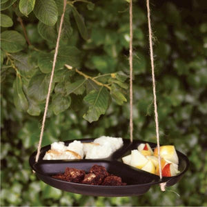 A SHORT WALK ECO Food Waste Table - Bird Feeder in use