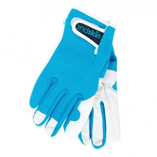 Men's Goatskin and Lycra Gloves- Annabel Trends Brand - Aqua colour