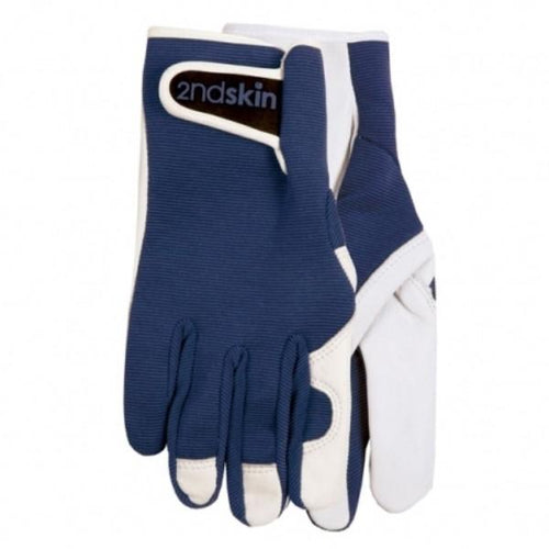 Men's Goatskin and Lycra Gloves- Annabel Trends Brand - Navy colour