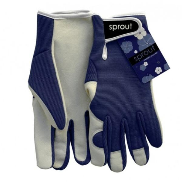 Ladies Goatskin and Lycra Gloves- Sprout brand - Navy