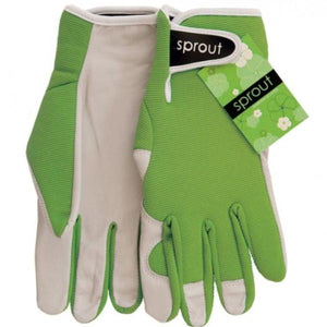 Ladies Goatskin and Lycra Gloves- Sprout brand - Olive Green