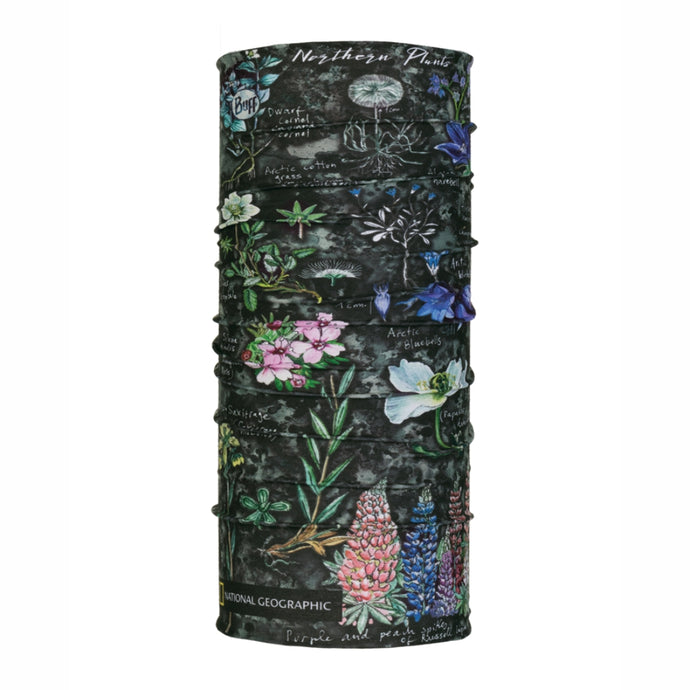 BUFF® | Original Multifunction Tubular Neckwear - National Geographic - Artic Flowers Grey