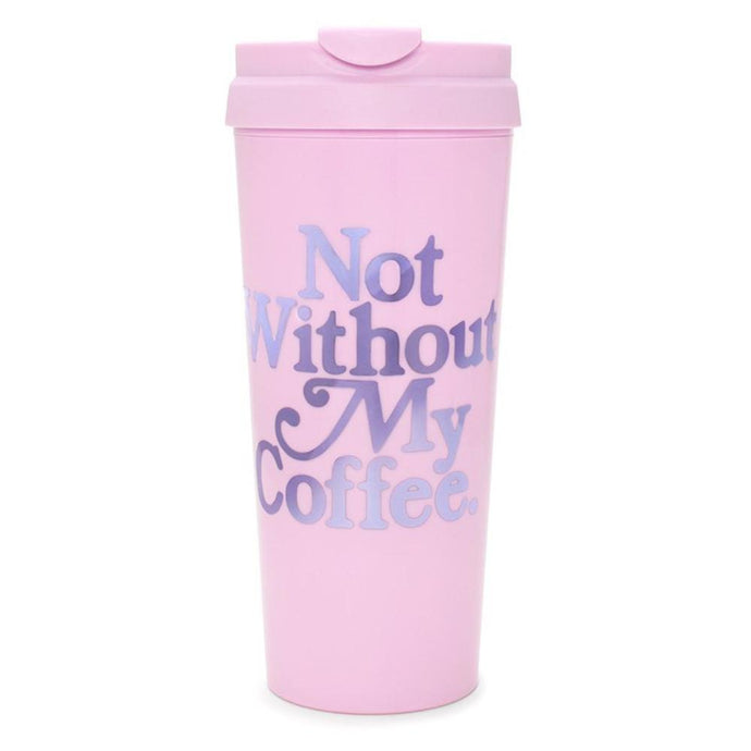 Ban.do Not without my coffee thermal mug