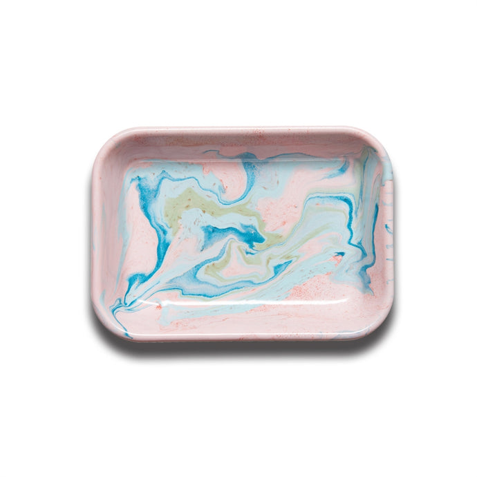 BORNN | Enamelware Marble Medium Baking Dish - Blush