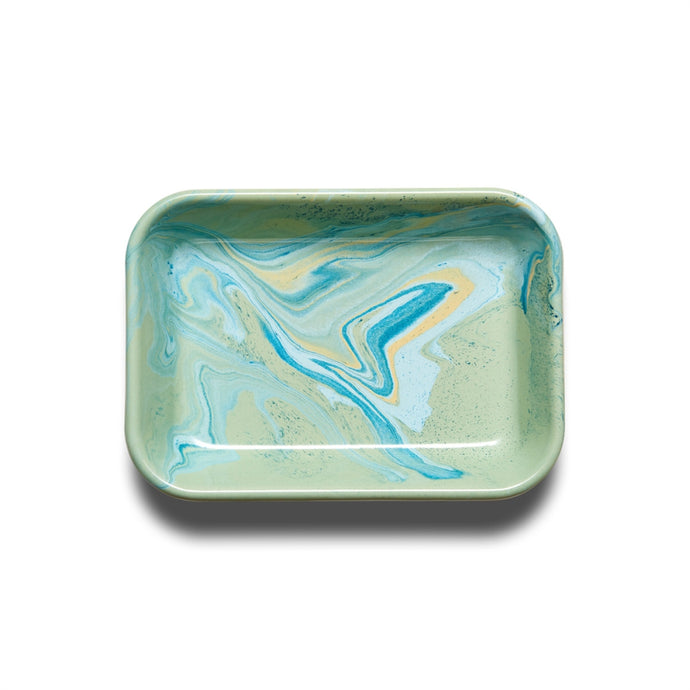 BORNN | Enamelware Marble Medium Baking Dish - Mint