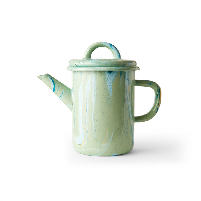 BORNN | Enamelware Marble Tea Pot 0.6L - Mint