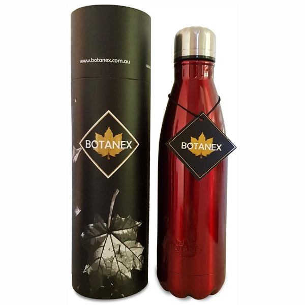 Red Insulated Bottle with packaging
