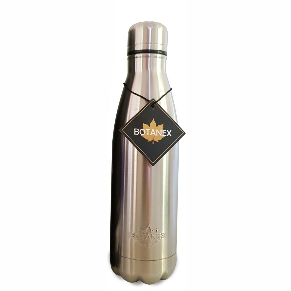 Silver Stainless Steel Insulated Water Bottle