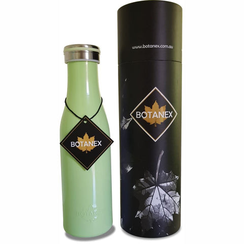 Green Insulated Bottle with packaging