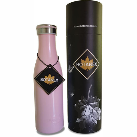 BOTANEX  |  Vintage Milk Pint Insulated Bottle - Rose Pink