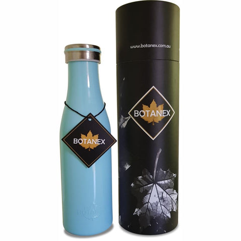 BOTANEX  |  Vintage Milk Pint Insulated Bottle - Sky Blue