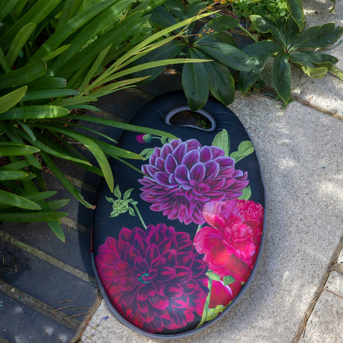 BURGON & BALL | British Bloom 'Dahlia' Kneelo® Gardening Kneeler - RHS Endorsed